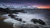 [ ... arctic sunrise ] (D-P Photography) Tags: ocean red sun snow mountains sunrise canon landscape island iceland waves purple nd peninsula snaefellsnes budir ndgrad leefilters dpphotography longtimeexpsure