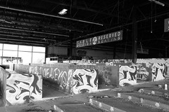 IMG_1454 (AustinBoyes) Tags: abandoned building desolate decaying dog track racetrack race dogs black white old desert phoenix graffiti destroyed landscape