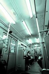 Riding the U (daniel_james) Tags: 2016 berlin germany europe ubahn subway metro train underground canon1022mm people