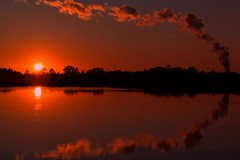 Sunset and Pseudo Clouds (dianealdrich - Please read my profile) Tags: sunset spectacularsunset southjerseysunset ruralsunset clouds reflection water beautiful ruralscene serenescene landscape serene bronze golden southjersey southernnewjersey newjersey