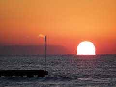 Smoke or cloud? (Riccardo Palazzani - Italy) Tags: jesolo sunrise alba dawn sea sun lido veneto italy red sky smoke cloud italia italie italien   itlia itali  italya   riccardo palazzani veridiano3 olympus omd em   aube  amanecer morgendmmerung amanhecer