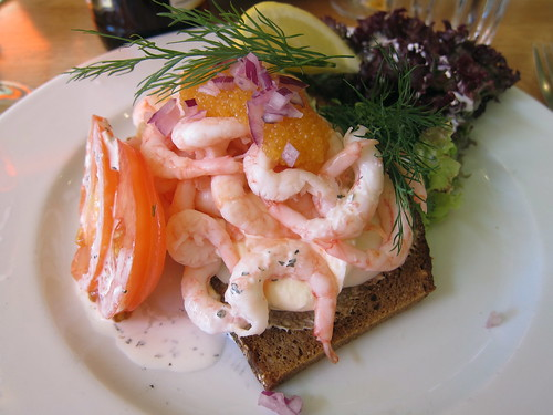 Prawn and egg sandwich
