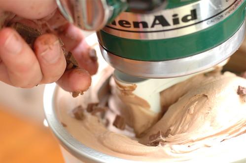 recipe: triple chocolate ice cream. VI.