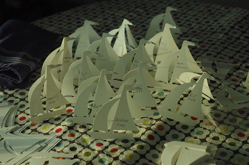 escort card sailboats!
