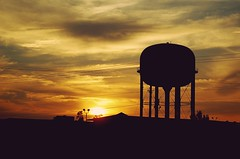 Exit 5 (mrohjamesness) Tags: sunset shadow sun tower water silhouette set d50 dawn travels nikon dusk watertower the