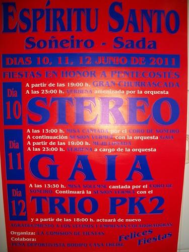 Sada 2011 - Festas do Espíritu Santo en Soñeiro - cartel