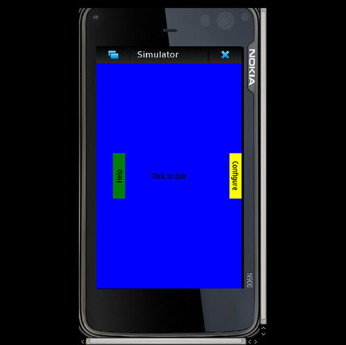 Screenshot of the Rectangle example