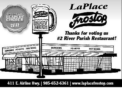 LaPlace Frostop Ad  by LaPlace Frostop