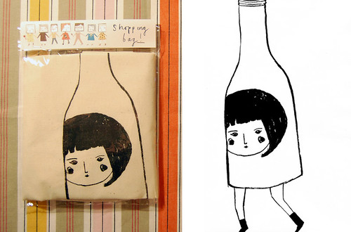 Bottle Girl tote bag