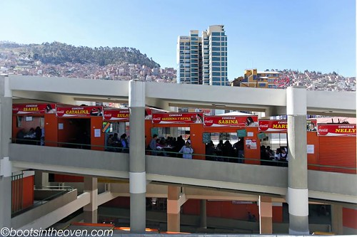 Shiny market view with La Paz backdrop