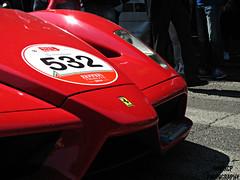 Enzo. (gabricp) Tags: red canon photography ferrari enzo tribute brescia supercar v12 2014 millemiglia carspotting rossocorsa gabricp