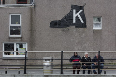 K boot sign (michael_hamburg69) Tags: lerwick scotland schottland shetlandinseln shetland shetlandislands shetlands black shoe boot boots k kbootsign esplanade uk