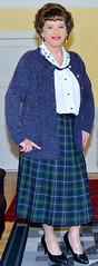 Birgit023087 (Birgit Bach) Tags: pleatedskirt faltenrock blouse bluse cardigan strickjacke