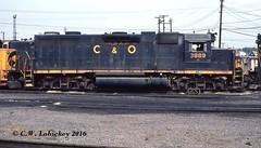 C&O 3889 on 9-3-79 (C.W. Lahickey) Tags: co emd gp38 cumberland maryland