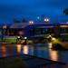 .@MyCommTrans Swift BRT Pulling Into Everett Station in Blue Hour