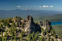 Paulina Peak (Ken Barber) Tags: travel centraloregon lake caldera newberrycrater cascades cascaderange threesisters brokentop volcano mountains oregon paulinapeak paulinalake