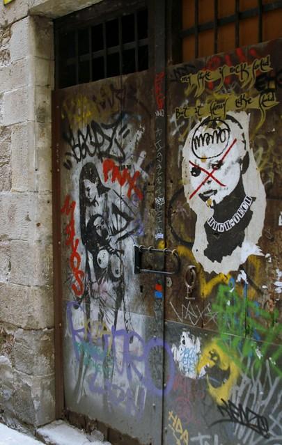 Граффити в готическом квартале