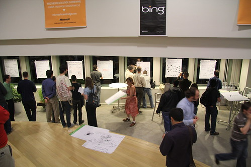Image of People Voting on Posters