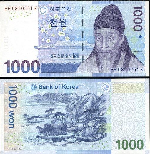 1000 Won Južná Kórea 2007, P54