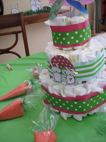 Diaper Cake & Carrot Favors