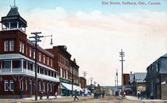 Sudbury - Elm St at Elgin, looking east - Balmoral Hotel C1912 (363FroodRd / 573PineSt) Tags: sudbury sudburyon