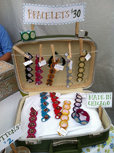bracelets in a suitcase!