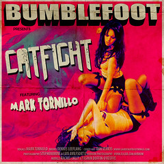 Bumblefoot Catfight CD Cover (stephenbrow) Tags: girls roses vintage fight artwork cd n cover single guns 70 catfight stephenbrow bumblefoot avbrow