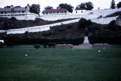 Fort Mackinac & Father Marquette Statue 1966