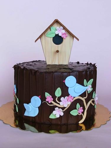 Chocolate birdie cake by bubolinkata