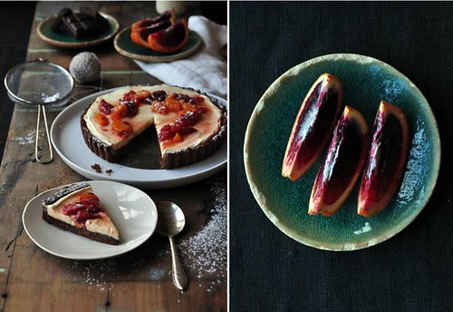 6 OurKitchen-Choco Tart Sliced with Cream Blood Orange, Ingred