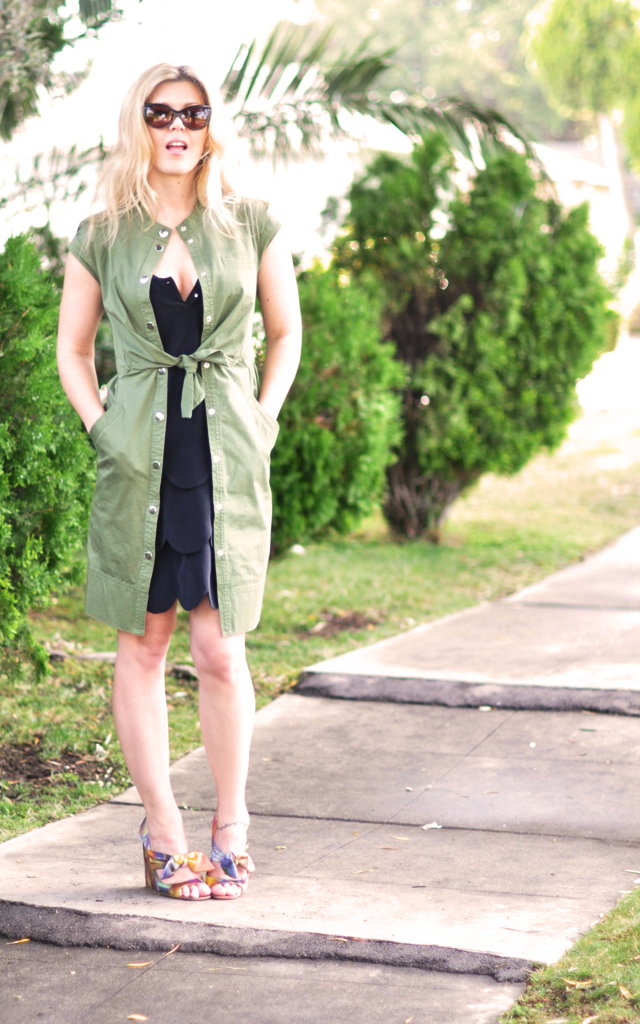 layered dresses +  moschino shoes + tom ford sunglasses