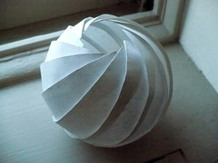 Skewball (oschene) Tags: origami sine developable curvedsurface