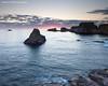 Dove Rock (Azzmataz) Tags: sea sun rock sunrise harbour dove stack dunbar