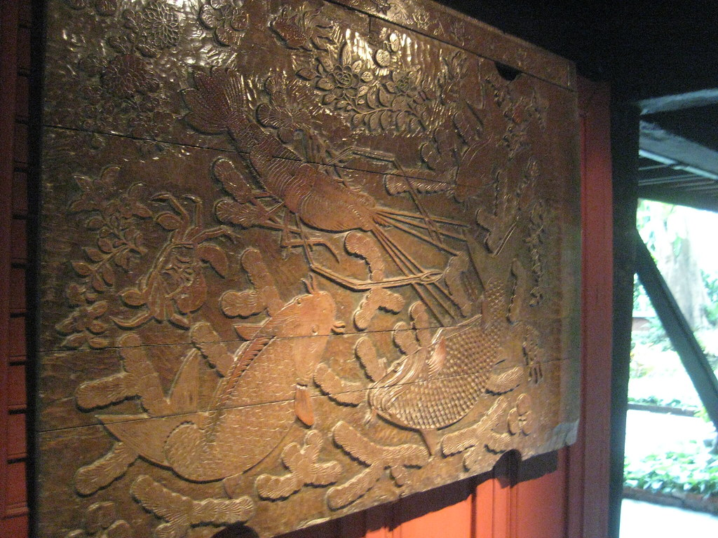 koi fish panel