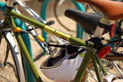 Bicycles (Emily Irelan) Tags: seattle beach washington sticker bikes bicycles spaceneedle goldengardens