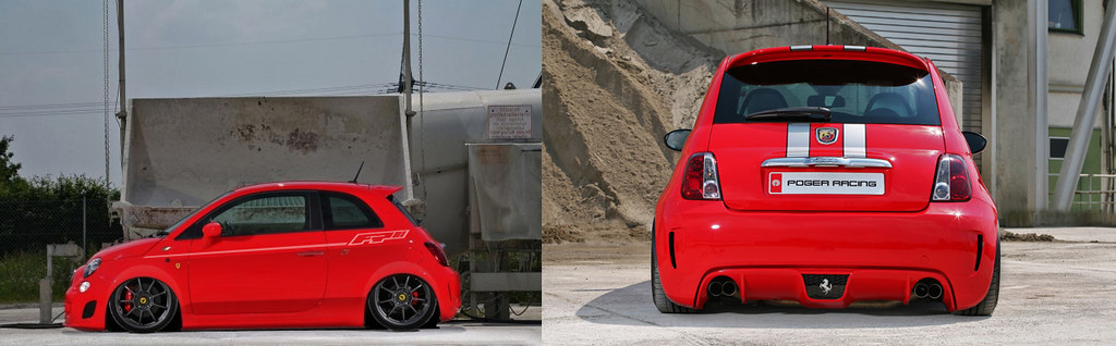 Slammed Fiat 500 Ferrari Dealers Edition With 268 Ps By Pogea