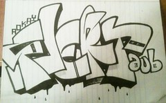 flert (halfway stacked) Tags: graffiti sketch exchange aub 3e flert 3ek