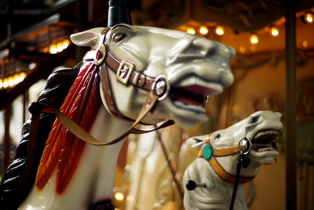 carrousel horses in Paris