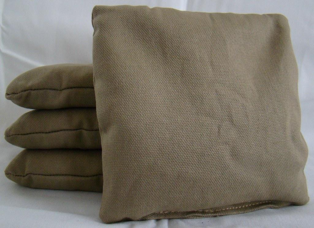 Beige Cornhole Bags