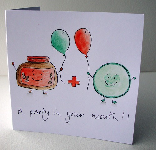 Peanut butter and Cucumber card