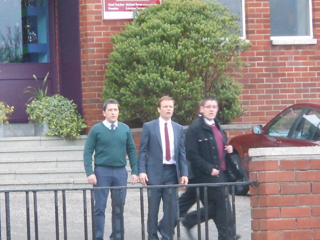 Waterloo Road 5/4/12 - Filming a scene, Jason Done and ALEC Newman