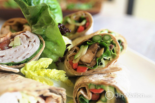 Healthy Grilled Vegetable Hummus Wrap