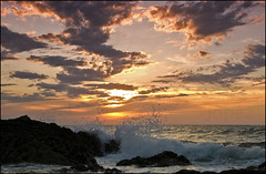 (jopez _fotografia) Tags: sunset sea sky clouds atardecer mar spain rocks waves cielo foam nubes puestadesol olas rocas cantabria espuma cantabrico pielagos jorgelpez jopez