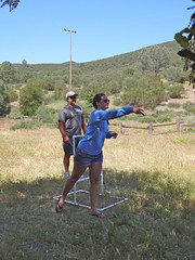 ladder golf emma (maureenld) Tags: camping friends game fun 40th bash emma may db annual pinnacles 2012 pinnaclesnationalmonument bethereorbesquare laddergolf desertbash btobs