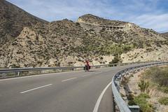 Going down (TheCrazyTravel.com) Tags: road travel espaa mountain girl bicycle cycling andaluca spain cyclist down roadtrip downhill murcia touring biketouring ilze mojcar