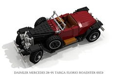 Daimler Mercedes 28-95 Targa Florio Roadster (1923) (lego911) Tags: auto classic sports car vintage germany airplane mercedes model fighter lego d render aircraft wwi von aeroplane v german oldtimer dv veteran albatros challenge baron aero daimler biplane cad 79 redbaron lugnuts roadster targa povray moc ldd richthofen 2895 miniland florio lego911 albatrosdv lugnutsgoeswingnuts