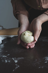 Dough in hand (Adel Hegedus) Tags: food woman brown still pin hand dough background flour rolling chapati