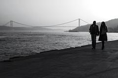 love (Berkan Byktmbk) Tags: street streetphotography streetphoto streetphotobw fujifilm xt1 bw blackandwhite monochrome love bridge sea light walking outdoor human people
