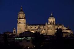 EL PODER DE LA ATRACCIN (Susana M.L.) Tags: salamanca nocturna arquitectura horaazul