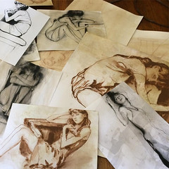 A day drawing (Dorian Vallejo) Tags: art fine drawing figure mixed media drawings oil painting dorian vallejo
